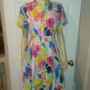 Kate Spade watercolor dress size 10